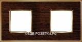 FEDE Vintage Wood Светлое золото / Дерево венге Рамка 2-я WENGE- Bright Gold (Oro Brillo)