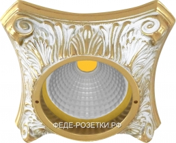 FEDE Pisa Светлое золото/ Белая патина Круглый светильник Gold White Patina (Oro Blanco Decape)