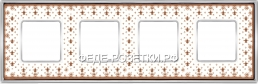 FEDE VINTAGE PORCELAIN BROWN LYS-Светлый хром Рамк